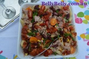 Tuna Pasta Bake Recipe With Cherry Tomatoes and Broccoli