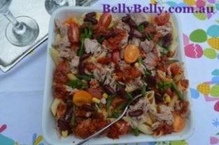 Tuna Pasta Bake Recipe With Cherry Tomatoes and Broccoli