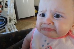 Adorable Baby Horrified At The Taste Of Avocado