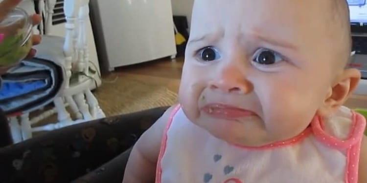 baby hates avocado