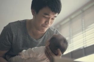 Adorable Advert: Nervous New Dad Bonds With Baby