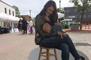 Life-Size Cut Outs Used To Normalise Breastfeeding