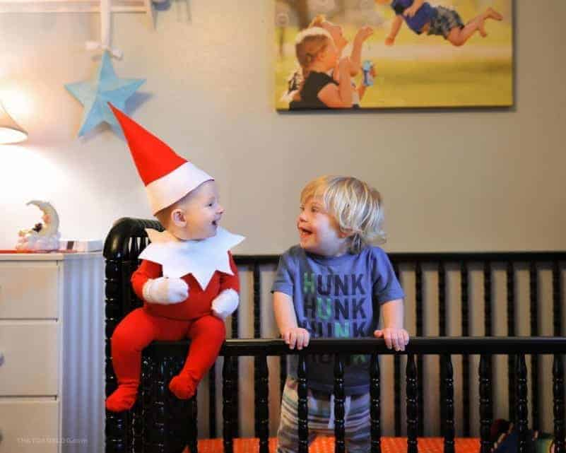 Dad Turns Baby Into Real Life Elf On The Shelf