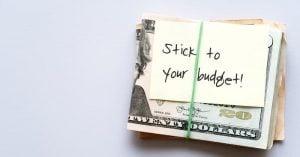 stick to budget
